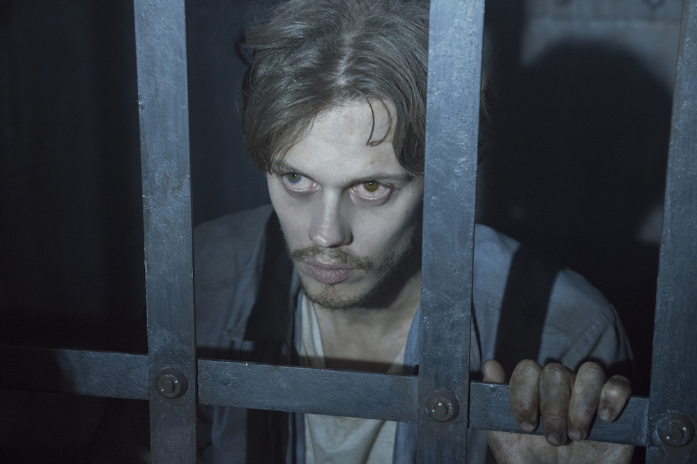 "Castle Rock --""Severance"" - Episode 101 -- Henry Deaver, a death-row attorney, confronts his dark past when an anonymous call lures him back to his hometown of Castle Rock, Maine. Bill Skarsgard, shown. (Photo by: Patrick Harbron/Hulu)"