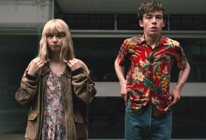 "Jessica Barden and Alex Lawther, ""End of the Fucking World"""