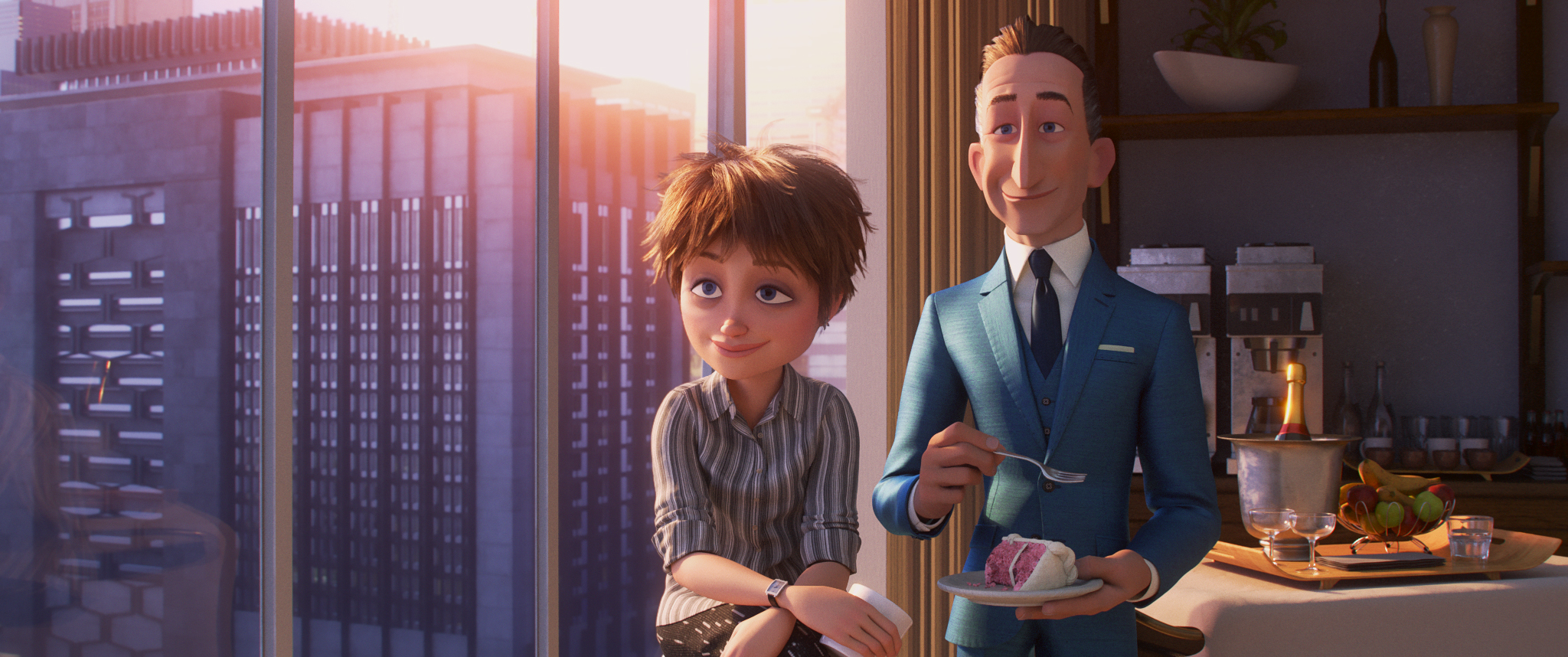 "OPPORTUNITY KNOCKS – In ""Incredibles 2,"" siblings Winston and Evelyn Deavor are huge fans of the Supers and start a campaign to improve their public image and ultimately bring them back. Featuring the voices of Catherine Keener as the brilliant and laid-back Evelyn Deavor, and Bob Odenkirk as the ultra-wealthy and savvy Winston Deavor, ""Incredibles 2"" opens in U.S. theaters on June 15, 2018. ©2018 Disney•Pixar. All Rights Reserved."