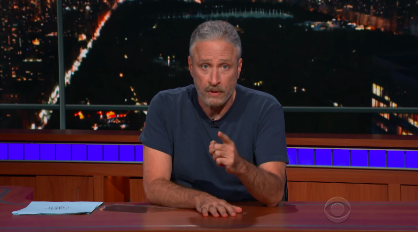 Jon Stewart Slams Trump for 'Gleeful Cruelty' in Surprise 'Late Show' Appearance