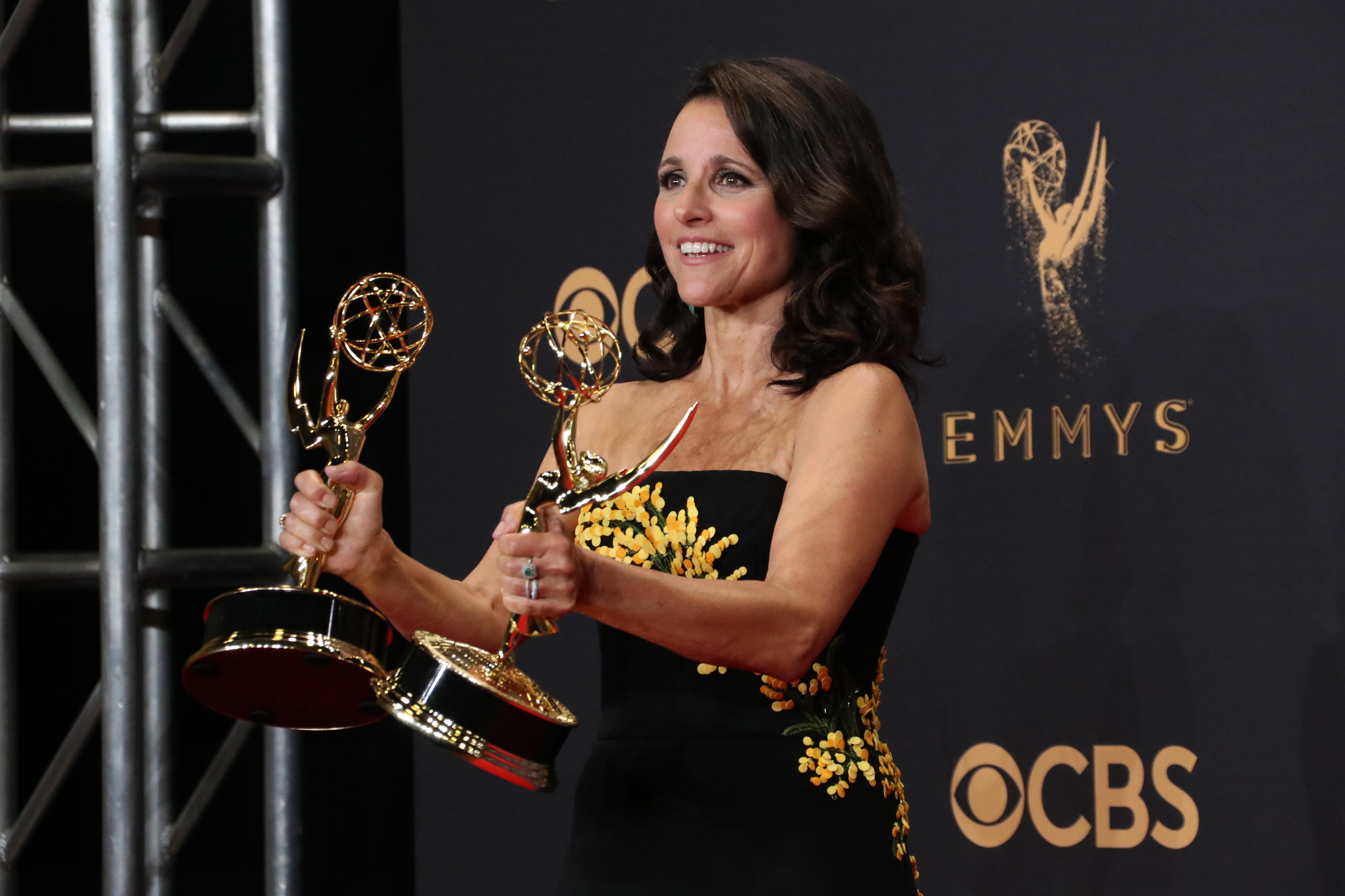 Julia Louis-Dreyfus - Outstanding Actress in a Comedy Series - Veep69th Primetime Emmy Awards, Press Room, Los Angeles, USA - 17 Sep 2017