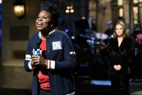 "SATURDAY NIGHT LIVE -- Episode 1738 ""Natalie Portman"" -- Pictured: Leslie Jones during the opening monologue in Studio 8H on Saturday, February 3, 2018 -- (Photo by: Will Heath/NBC)"