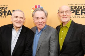 "JESUS CHRIST SUPERSTAR LIVE IN CONCERT -- ""For Your Consideration Event"" -- Pictured: (l-r) Craig Zadan, Andrew Lloyd Webber, Neil Meron at the Egyptian Theatre, Hollywood, Calif. on May 21, 2018 -- (Photo by: Evans Vestal Ward/NBC)"