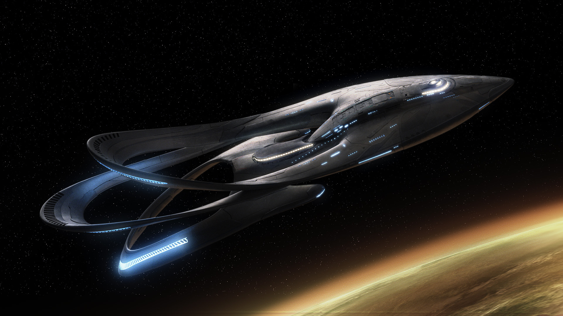 "THE ORVILLE: The Orville Ship. The new space adventure series from the creator of ""Family Guy."" The first part of the special two-part series premiere of THE ORVILLE will air Sunday, Sept. 10 (8:00-9:00 PM ET/PT), immediately following the NFL ON FOX Doubleheader. ©2017 Fox Broadcasting Co. Cr: Michael Becker/FOX"