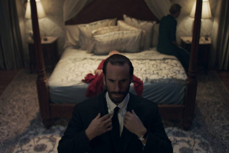 """THE HANDMAID'S TALE -- """"Offred"""" - Episode 101 - Offred, one the few fertile women known as Handmaids in the oppressive Republic of Gilead, struggles to survive as a reproductive surrogate for a powerful Commander and his resentful wife. Commander Waterford (Joseph Fiennes), shown. (Photo by: Take Five/Hulu)"""