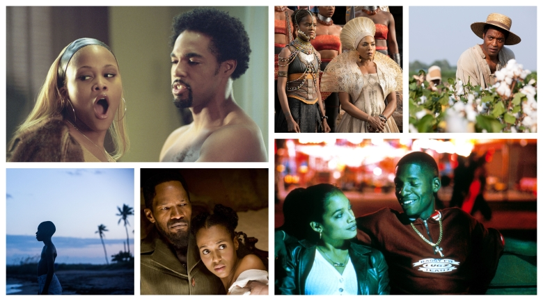 """Barbershop,"" ""Black Panther,"" ""12 Years a Slave,"" ""Moonlight,"" ""Django Unchained,"" ""Love & Basketball"""