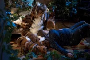 Adam Rothenberg as Dominic, Joy Nash as Plum Kettle - Dietland _ Season 1, Episode 3 - Photo Credit: Patrick Harbron/AMC