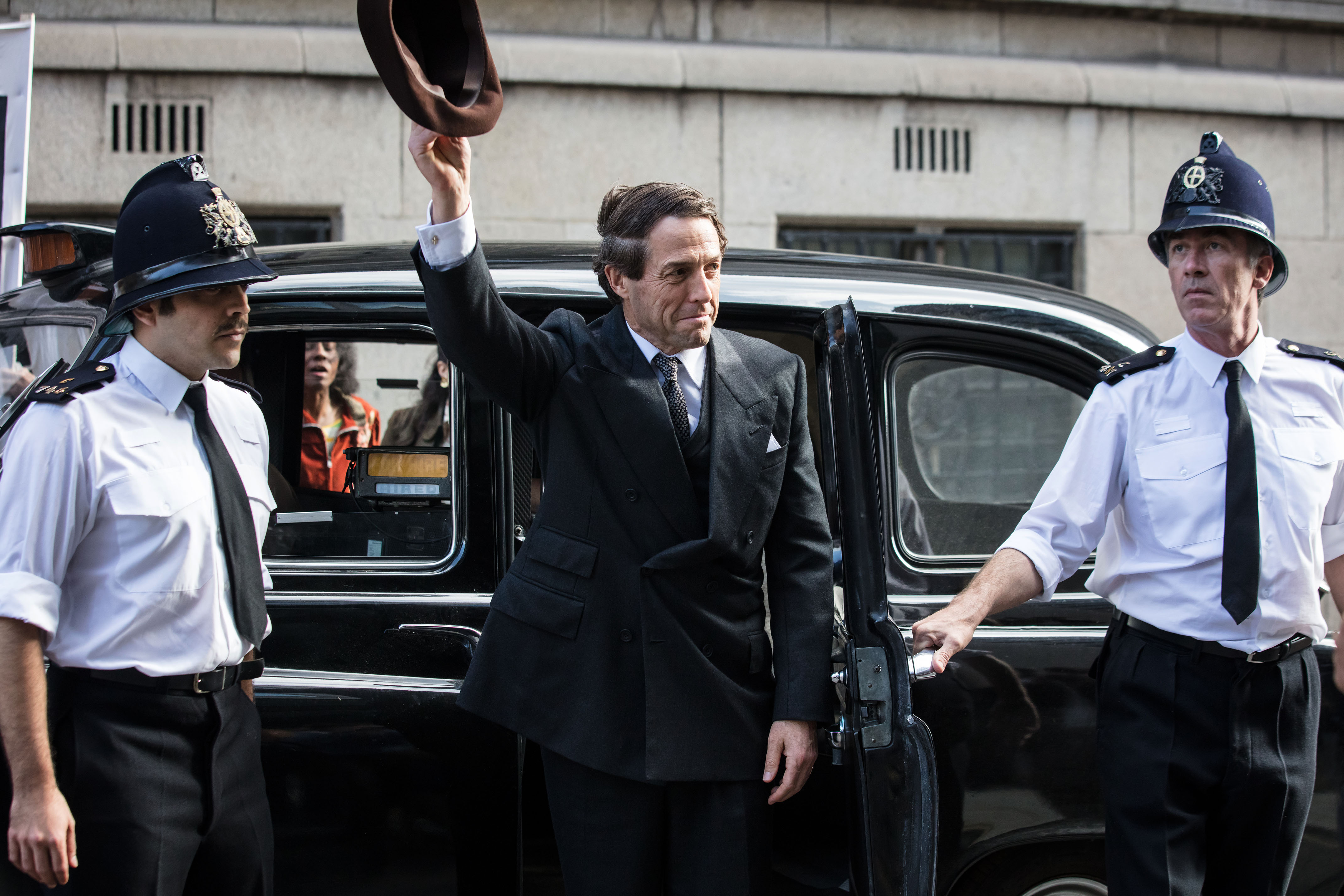 Programme Name: A Very English Scandal - TX: n/a - Episode: n/a (No. 3) - Picture Shows: Jeremy Thorpe (HUGH GRANT) - (C) Blueprint Television Ltd - Photographer: Sophie Mutevelian