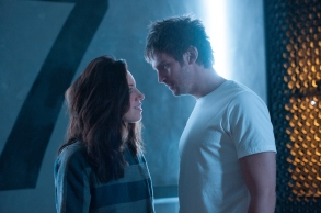 "LEGION -- ""Chapter 19"" - Season 2, Episode 11 (Airs Tuesday, June 12, 10:00 pm/ep) -- Pictured (l-r): Aubrey Plaza as Lenny Busker, Dan Stevens as David Haller. CR: Suzanne Tenner/FX"