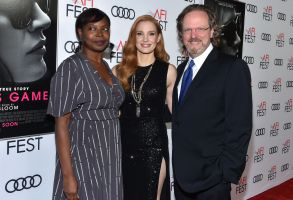 Jacqueline Lyanga, Jessica Chastain and Bob Gazzale'Molly's Game' film premiere, Arrivals, AFI Fest, Los Angeles, USA - 16 Nov 2017