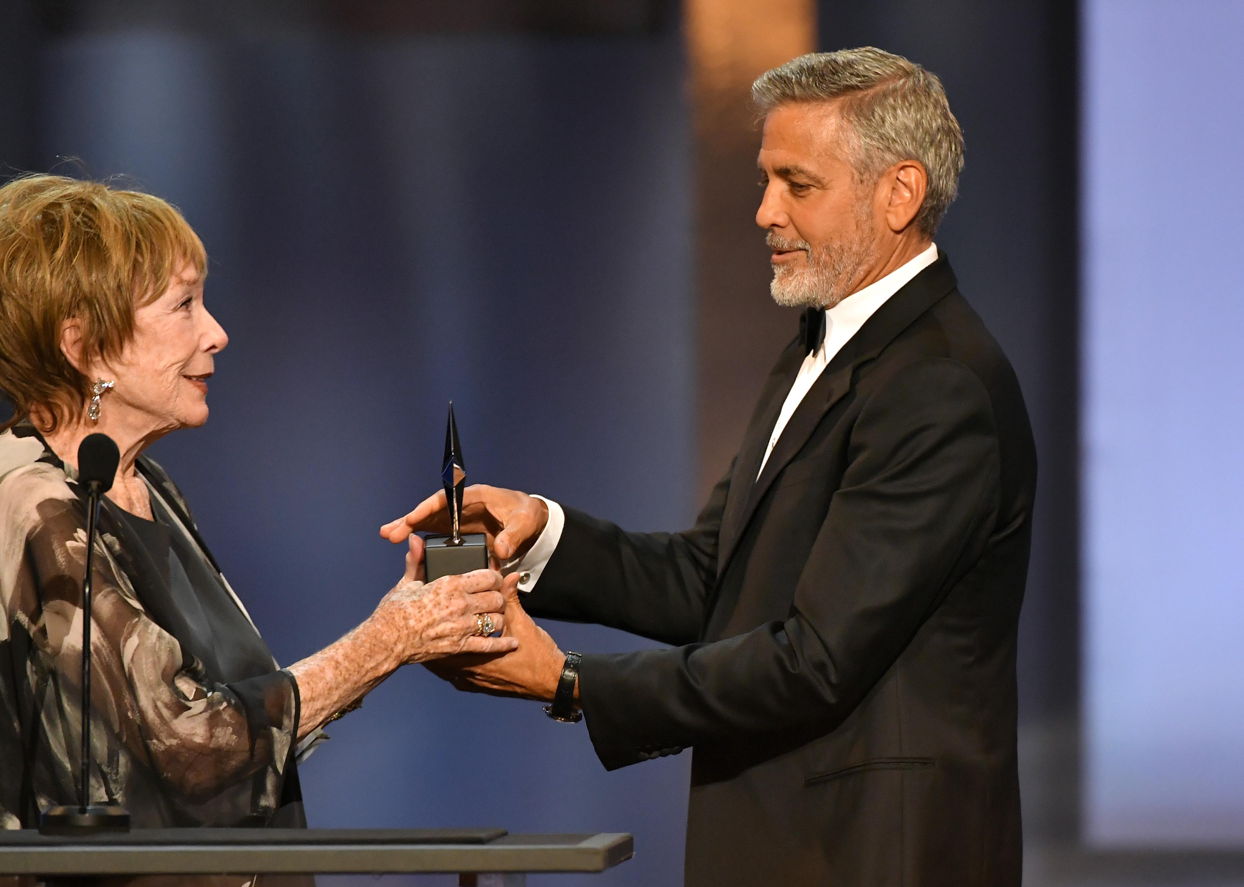 Shirley MacLaine and George ClooneyAFI Life Achievement Award Gala, Show, Los Angeles, USA - 07 Jun 2018