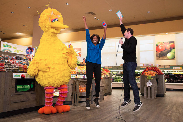 Michelle Obama, Billy Eichner, and Big Bird