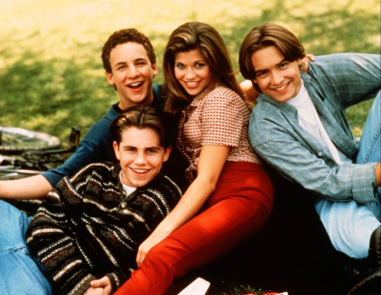 No Merchandising. Editorial Use Only. No Book Cover Usage.Mandatory Credit: Photo by Touchstone TV/Kobal/REX/Shutterstock (5870461b)Ben Savage, Rider Strong, Danielle Fishel, Will FriedleBoy Meets World - 1993Touchstone TVUSATelevision