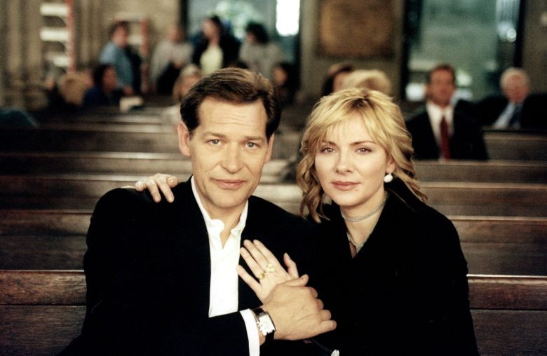 No Merchandising. Editorial Use Only. No Book Cover Usage. Mandatory Credit: Photo by Hbo/Darren Star Productions/Kobal/REX/Shutterstock (5886159t) James Remar, Kim Cattrall Sex and The City - 1998-2004 Hbo/Darren Star Productions USA Television