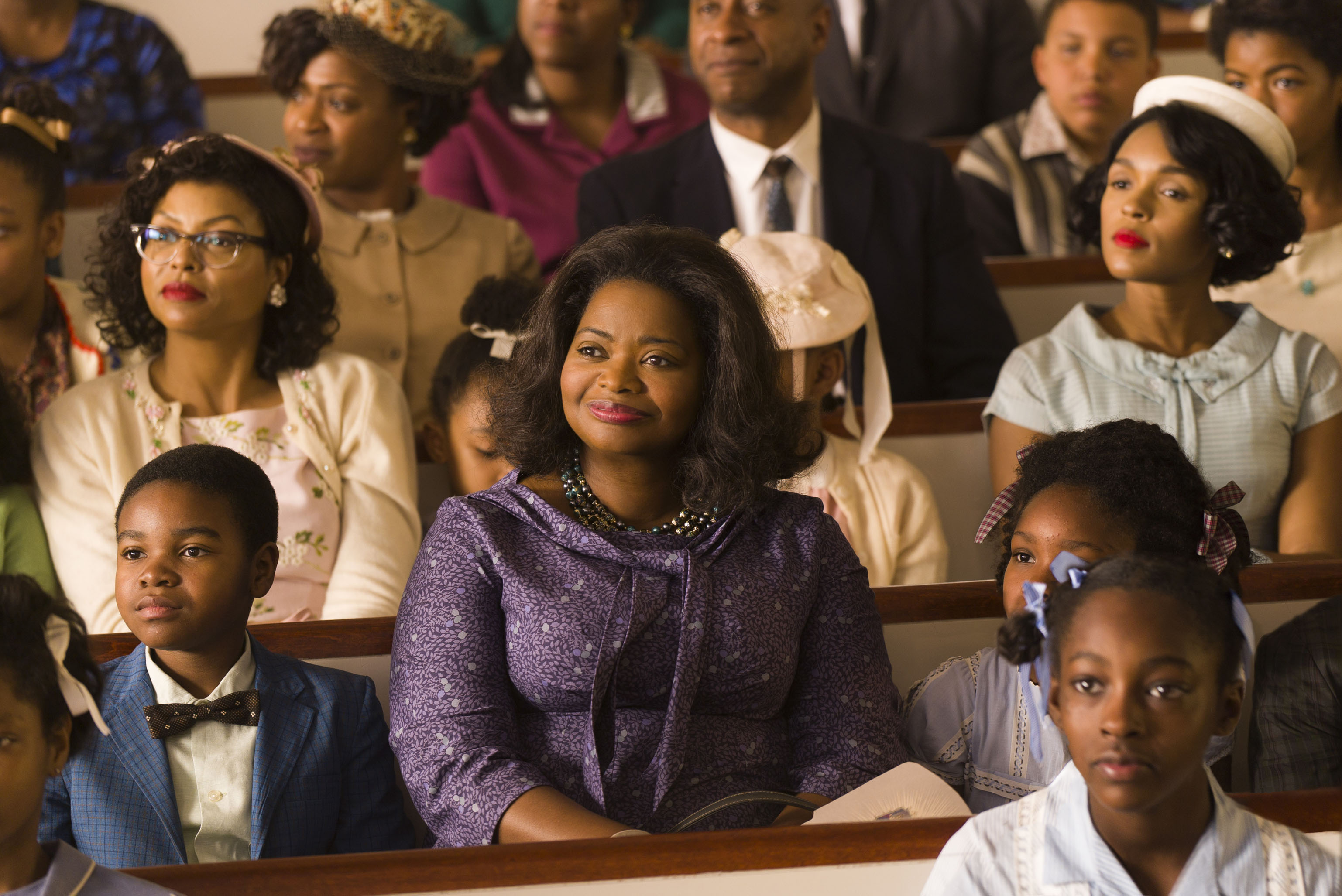 No Merchandising. Editorial Use Only. No Book Cover UsageMandatory Credit: Photo by 20th Century Fox/Kobal/REX/Shutterstock (7727326c) Taraji P. Henson, Octavia Spencer, Janelle Monae 'Hidden Figures' Film - 2016 HIDDEN FIGURES is the incredible untold story of brilliant African-American women working at NASA, who served as the brains behind one of the greatest operations in history: the launch of astronaut John Glenn into orbit, a stunning achievement that restored the nation?s confidence, turned around the Space Race, and galvanized the world. The visionary trio crossed all gender and race lines to inspire generations to dream big