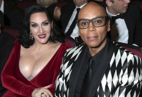 Michelle Visage, RuPaul. Michelle Visage, left, and RuPaul pose in the audience at the 69th Primetime Emmy Awards, at the Microsoft Theater in Los Angeles69th Primetime Emmy Awards - Audience, Los Angeles, USA - 17 Sep 2017