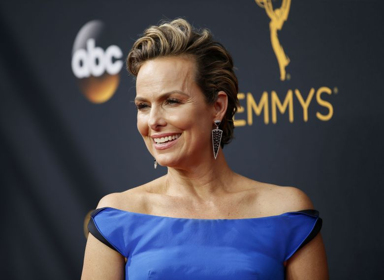 Melora Hardin arrives at the 68th Primetime Emmy Awards, at the Microsoft  Theater in Los