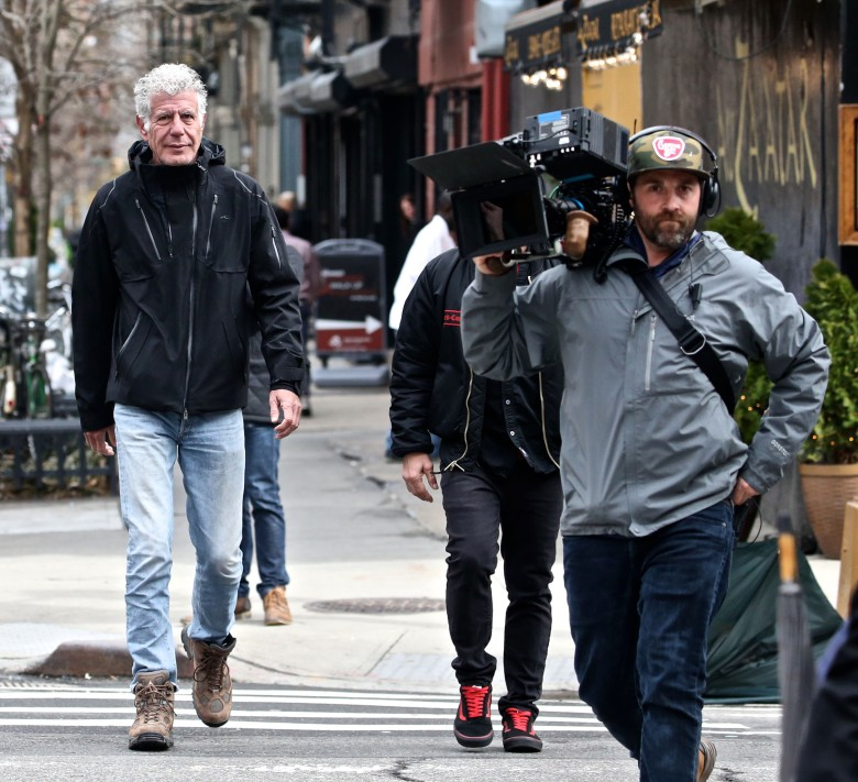 Anthony Bourdain'Anthony Bourdain: Parts Unknown' on set filming, New York, USA - 04 Apr 2018
