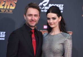 "Chris Hardwick, Lydia Hearst-ShawWorld Premiere of ""Avengers: Infinity War"", Los Angeles, USA - 23 Apr 2018"