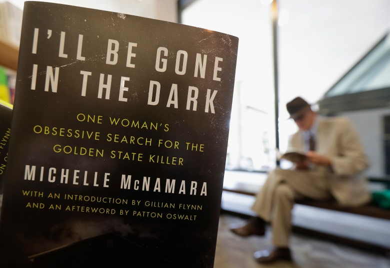 "This photo shows a copy of the book ""I'll Be Gone in the Dark: One Woman's Obsessive Search for the Golden State Killer"" by Michelle McNamara at a Books Inc. bookstore in San Francisco. California authorities say a man they suspect of being a serial killer tied to dozens of slayings and sexual assaults in the 1970s and '80s has been charged with murderCalifornia Serial Killer, San Francisco, USA - 25 Apr 2018"