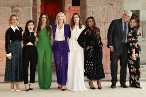 Sarah Paulson, Awkwafina, Sandra Bullock, Cate Blanchett, Anne Hathaway, Mindy Kaling, Gary Ross (Director), Olivia Milch (Producer)The Cast and Filmmakers of 'Ocean's 8' at The Metropolitan Museum of Art's Temple of Dendur in the Sackler Wing, New York, USA - 22 May 2018