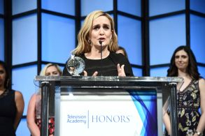 """Samantha Bee accepts the Television Academy Honor for """"Full Frontal with Samantha Bee,"""" and is recognized for using the power of TV to increase awareness and positively impact society at the 11th Annual """"Television Academy Honors"""" held at NeueHouse in Los Angeles11th Annual Television Academy Honors - Inside, Los Angeles, USA - 31 May 2018"""