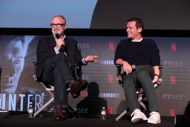 David Fincher, Director/Executive Producer, Jonathan GroffNetflix FYSEE MINDHUNTER Panel, Los Angeles, CA, USA - 1 June 2018