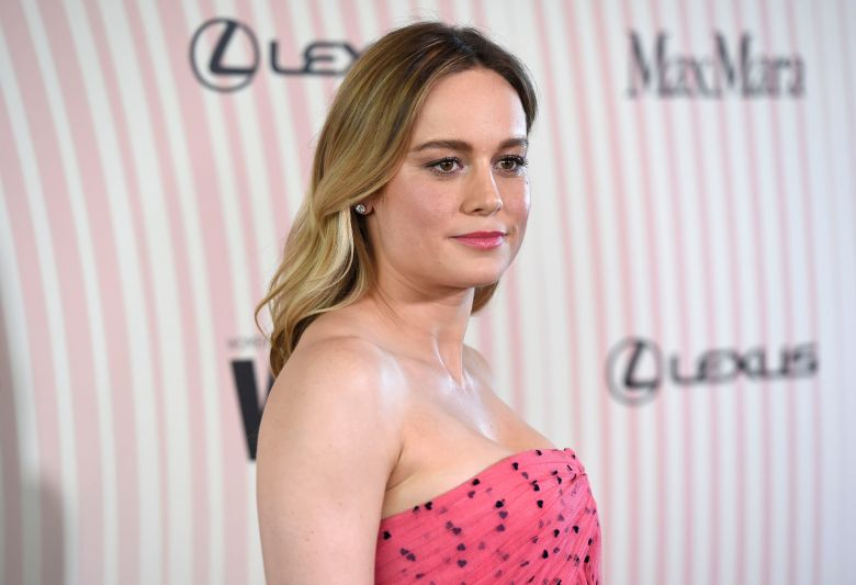 Brie Larson arrives at the Women In Film Crystal and Lucy Awards at the Beverly Hilton Hotel, in Beverly Hills, CalifWomen In Film 2018 Crystal and Lucy Awards - Arrivals, Beverly Hills, USA - 13 Jun 2018