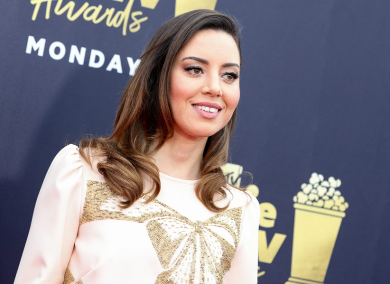 Aubrey PlazaMTV Movie & TV Awards, Arrivals, Los Angeles, USA - 16 Jun 2018