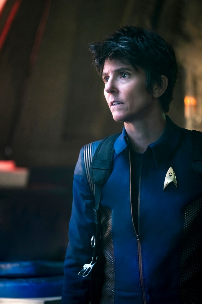 Episode 201-- Pictured: Tig Notaro as Chief Engineer Reno of the CBS All Access series STAR TREK: DISCOVERY. Photo Cr: Jan Thijs/CBS ©2018 CBS Interactive, Inc. All Rights Reserved.