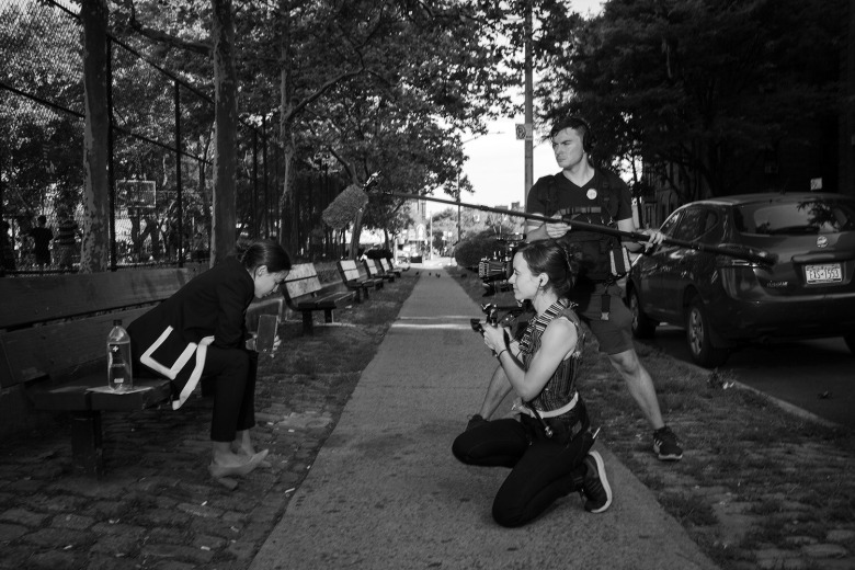 Rachel Lears filming Alexandria Ocasio-Cortez