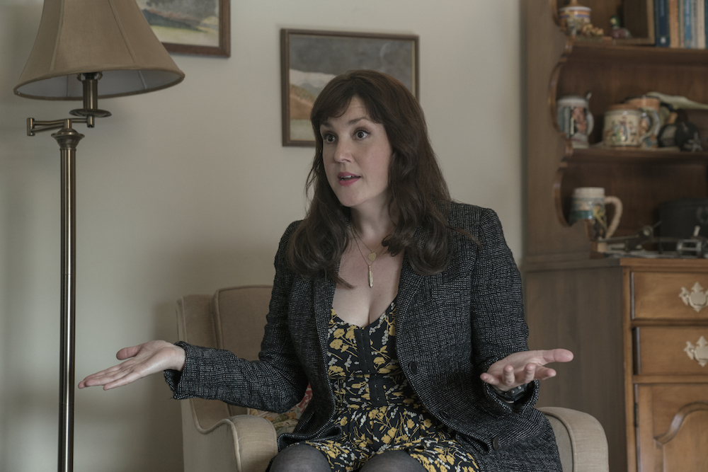 "CASTLE ROCK -- ""Severance"" - Episode 101 - An anonymous phone call lures death-row attorney Henry Denver back to his home town of Castle Rock, Maine. Molly Strand (Melanie Lynskey) shown. (Photo by: Patrick Harbron/Hulu)"