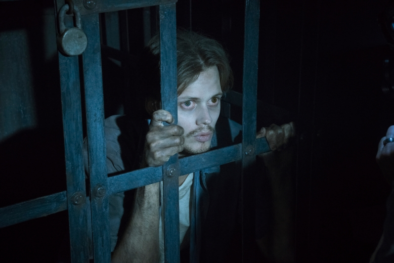"Castle Rock -- ""Severance"" -- Episode 101 -- Henry Deaver, a death-row attorney, confronts his dark past when an anonymous call lures him back to his hometown of Castle Rock, Maine. Bill Skarsgard, shown. (Photo by: Patrick Harbron/Hulu)"