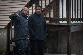Director Antoine Fuqua (LEFT) and Denzel Washington on the set of Columbia Pictures' THE EQUALIZER 2.