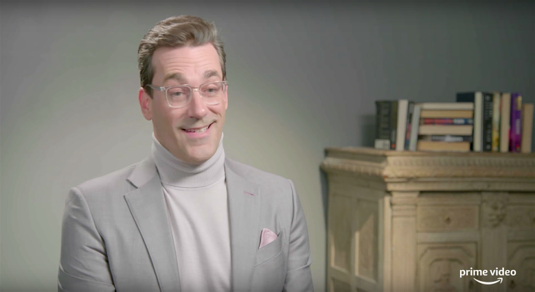 "Jon Hamm, ""Good Omens"" behind the scenes"
