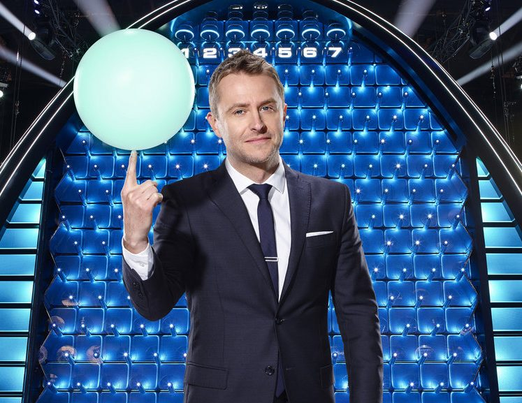 THE WALL -- Season: 1 -- Pictured: Chris Hardwick -- (Photo by: Chris Haston/NBC)