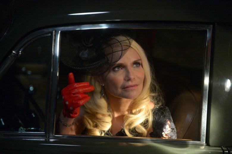 "TRIAL & ERROR: LADY, KILLER -- ""The Suitcase"" Episode 201 -- Pictured: Kristin Chenoweth as Lavinia Peck-Foster -- (Photo by: Sergei Bachlakov/NBC)"