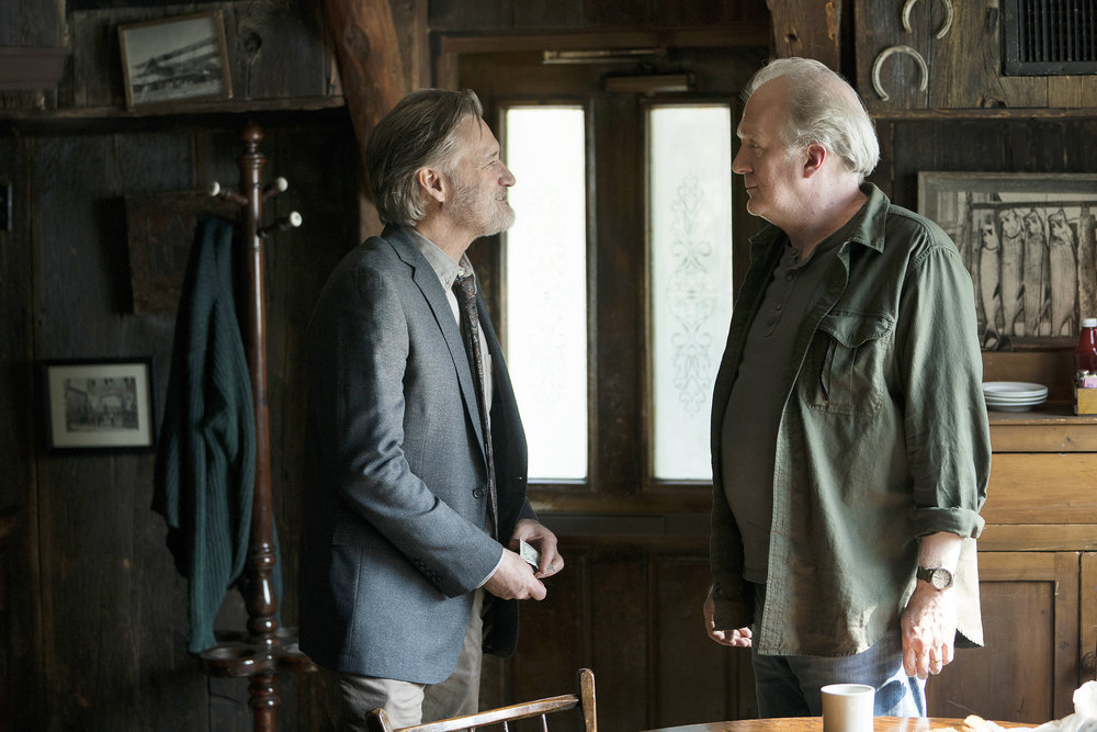 "THE SINNER -- ""Part I"" Episode 201 -- Pictured: (l-r) Bill Pullman as Detective Lt. Harry Ambrose, Tracy Letts as Jack -- (Photo by: Peter Kramer/USA Network)"