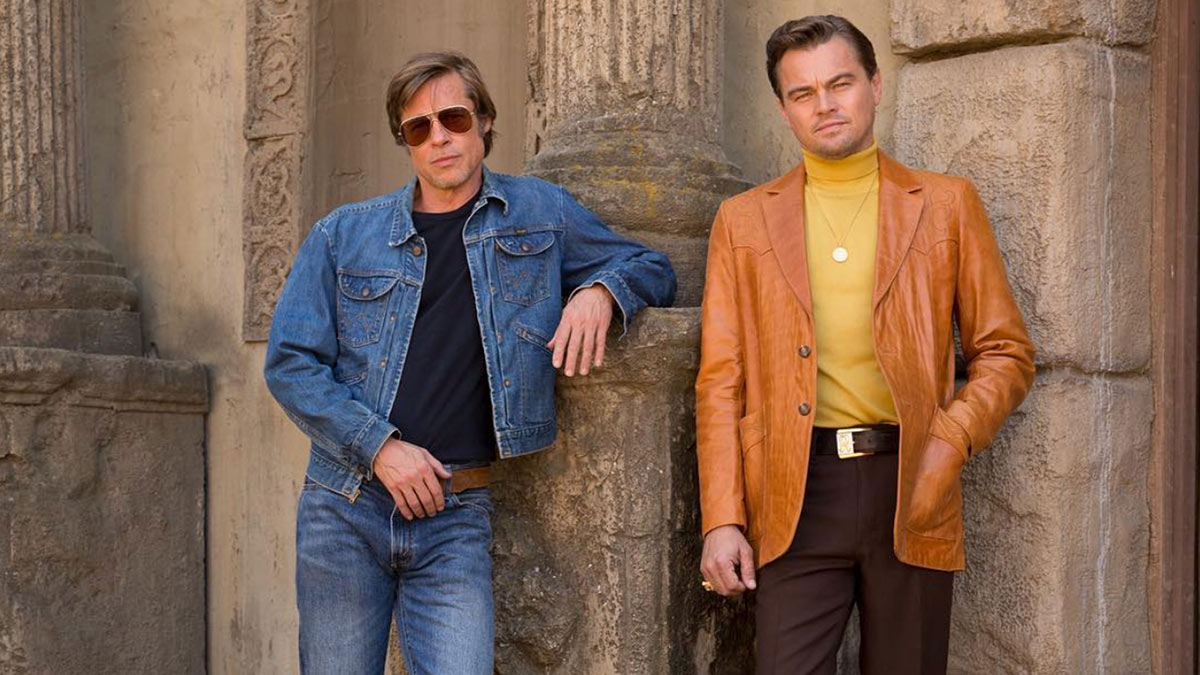 Brad Pitt Leonardo DiCaprio filming Once Upon a Time in Hollywood