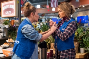 Leah Remini and Jennifer Lopez star in SECOND ACT.