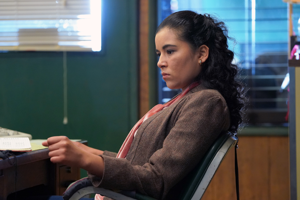 "SNOWFALL -- ""Sightlines"" -- Season 2, Episode 1 (Airs Thursday, July 19, 10:00 pm ET/PT) -- Pictured: Emily Rios as Lucia Villanueva. CR: Byron Cohen/FX"