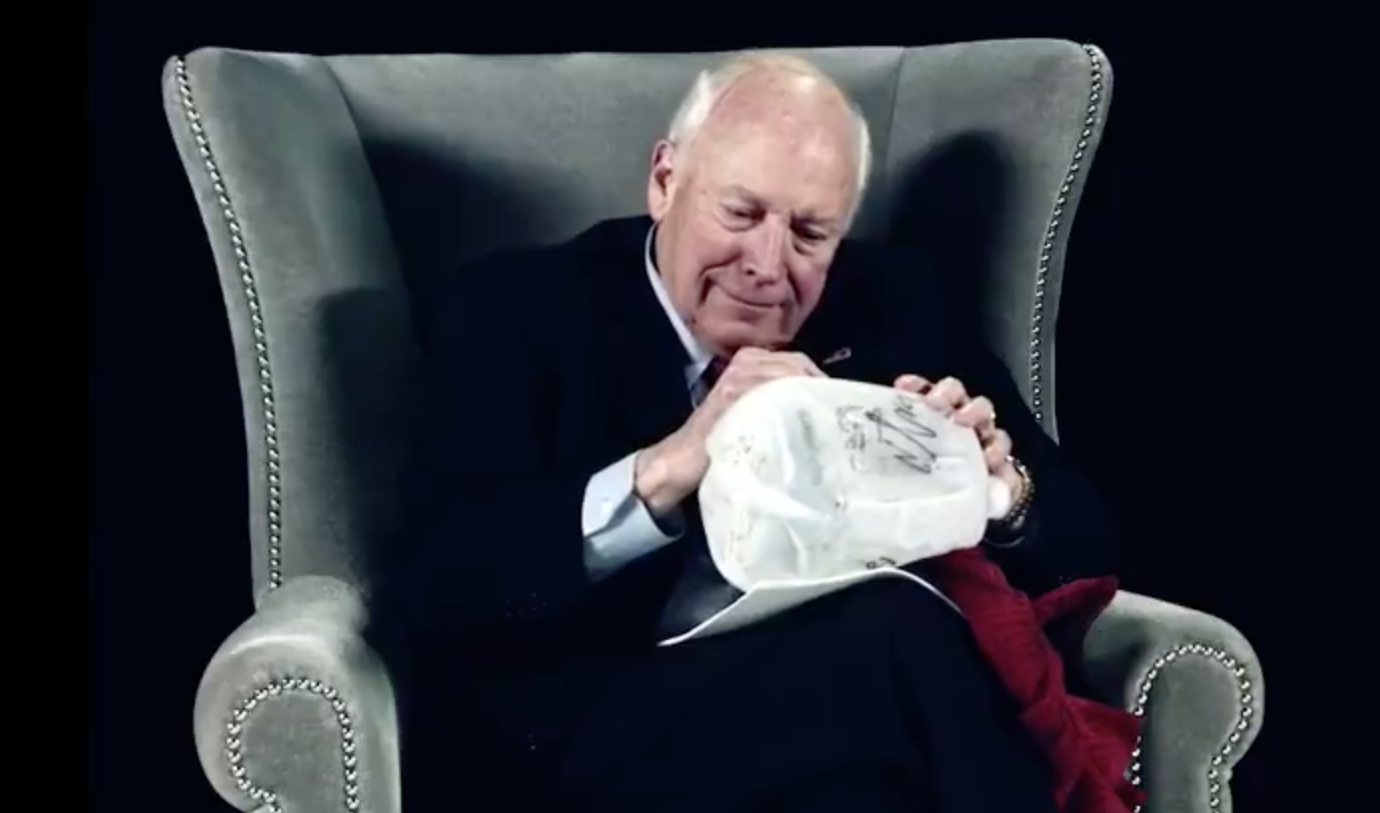 Cheney signs 'waterboard kit' in teaser for new comedy show