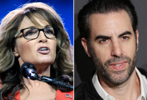 Sarah Palin and Sacha Baron Cohen