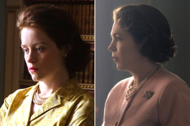 "Claire Foy and Olivia Colman, ""The Crown"""