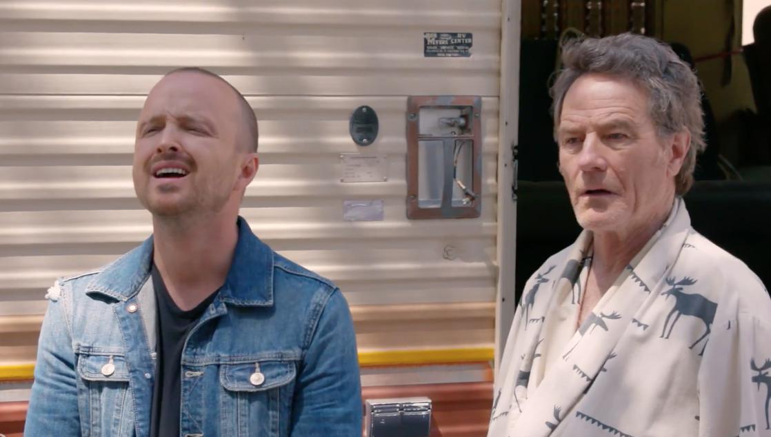 Aaron Paul Discovers Bryan Cranston Has Been Living in the 'Breaking Bad' Meth RV in This Dark-Comedy Short Film — Watch