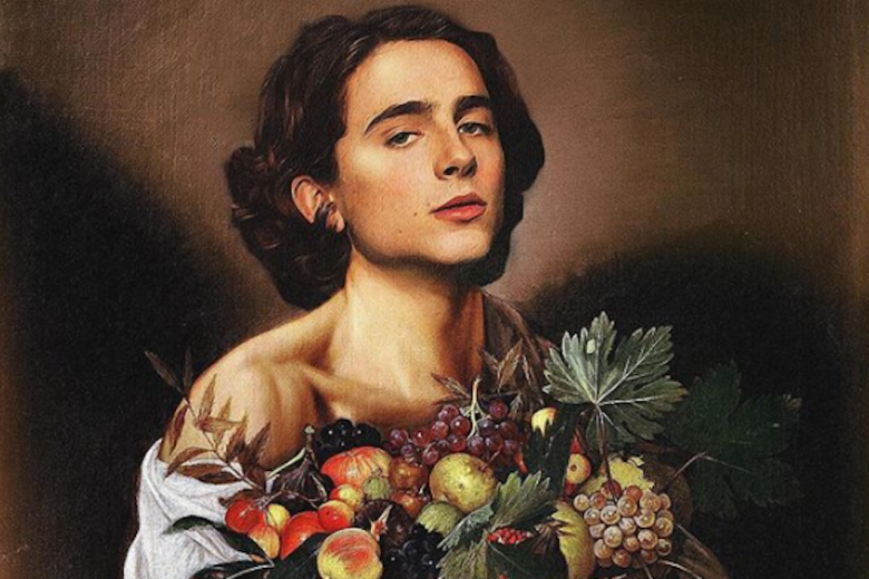 somebody is photoshopping timothée chalamet into famous paintings