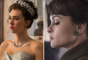 "Vanessa Kirby and Helena Bonham Carter, ""The Crown"""