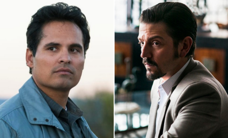 "Michael Peña and Diego Luna, ""Narcos: Mexico"""