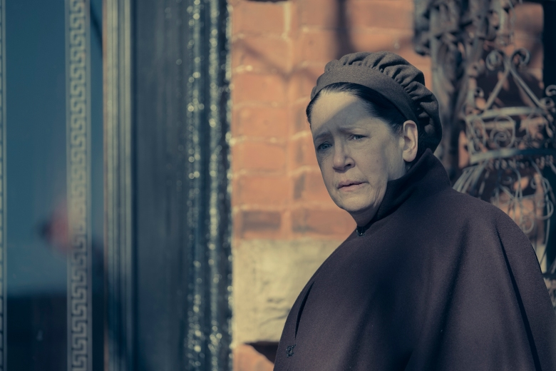 "THE HANDMAID'S TALE -- ""Postpartum"" -- Episode 212 -- Offred is sent to a familiar place. Nick is rocked by Gileadís brutal response to a crime. Emily is assigned to a mysterious new house. Aunt Lydia (Ann Dowd), shown. (Photo by: George Kraychyk/Hulu)"