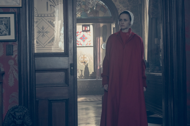 "THE HANDMAID'S TALE -- ""Postpartum"" -- Episode 212 -- Offred is sent to a familiar place. Nick is rocked by Gileadís brutal response to a crime. Emily is assigned to a mysterious new house. Ofglen (Alexis Bledel), shown. (Photo by: George Kraychyk/Hulu)"